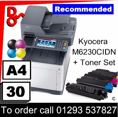 """Special Offer"" NEW Kyocera M6230CIDN A4 Colour MFP - 1102TY3NL1 - plus spare toner set for sale supplier West Sussex, East Sussex, Kent & Surrey"